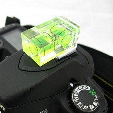 Dual Double Axis Bubble Level Gradienter Hot Shoe- 2 axis bubble for DSLR