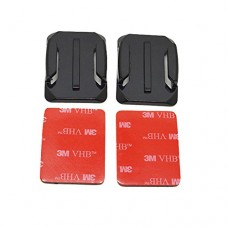 QuikProf 2pcs Curved Adhesive Mounts with 3M Sticky Pads for GOPRO