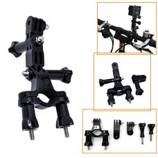 QuikProf Bike Motorcycle Handlebar Seatpost Pole Mount For Gopro Hero HD 1 2 3 with free pivot arms