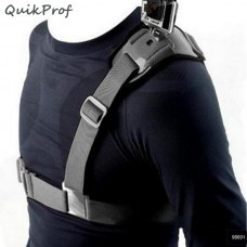 Quikprof Shoulder Strap Mount Harness For Gopro, YI, SJCAM - Action Camera Accessory