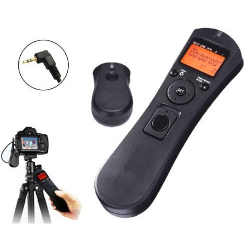 JINTU Wireless FSK 2 4GHz LCD Timer Time lapse intervalometer Remote  Shutter Release Cable Cord for Canon