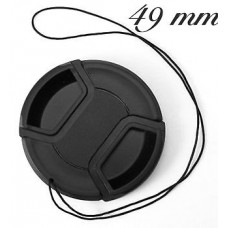 49mm Lens Cap for NIkon, Canon, Sony, Olympis.
