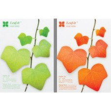 Lifelike leaves Creative Sticky Notes [2 Sheets of 60 Stickers]